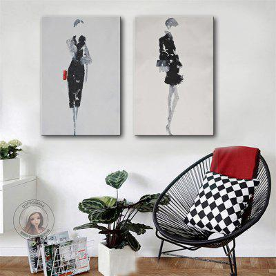 Special Design Frameless Paintings Grace Print 2PCS