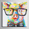 Special Design Frameless Paintings Pig Print - MULTI