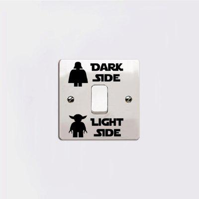 Dark Light Switch Sticker Classic Decal DIY Cartoon Vinyl Kids Room Home Decor