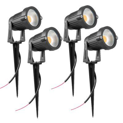 7W COB  Waterproof Outdoor Garden Low Voltage AC12V Lawn Lamp Spiked Stand 4PCS