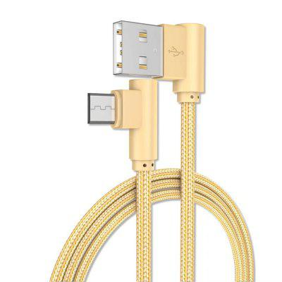 Solid Color Weave Bend  Micro Data Charging Cable 100CM