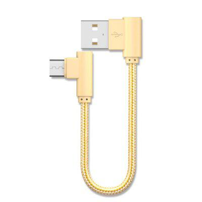 Solid Color Weave Bend Micro Data Charging Cable 20CM
