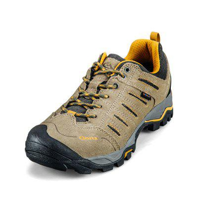 CLORTS Genuine Leather Cow Suede Waterproof Hiking Shoes Outdoor Trekking Shoes