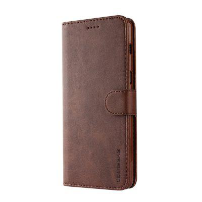 Custodia per Samsung A8 Plus 2018 Luxury Leather Wallet Silicon Flip Card Slot
