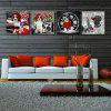 W133 Cool Dogs Unframed Art Wall Canvas Prints for Home Decorations 4 PCS - MULTI-A