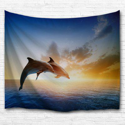 Couples Dolphins 3D Printing Home Wall Hanging Tapestry for Decoration
