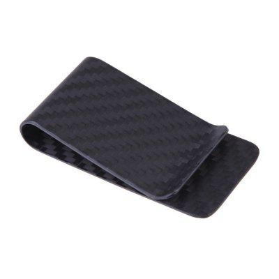Carbon Fiber Money Clip Minimalist Slim Wallet Credit Business Card Holder