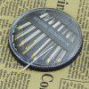 30PCS Assorted Hand Sewing Needles and Disc Box Embroidery Mending Craft - BLACK