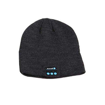 Wireless Headset Smart Cap Bluetooth Soft Warm Beanie Hat Headphone Speaker Mic