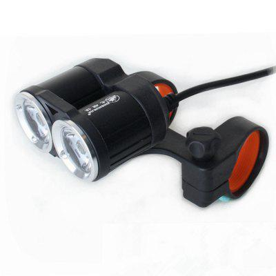 ZHISHUNJIA USB 5V CREE XML T6 2 LED 1400lm 4-Mode fietsverlichting koplamp
