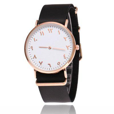 New  Fashion Rose Gold Super Thin Belt  Male Business Retro Quartz Watch