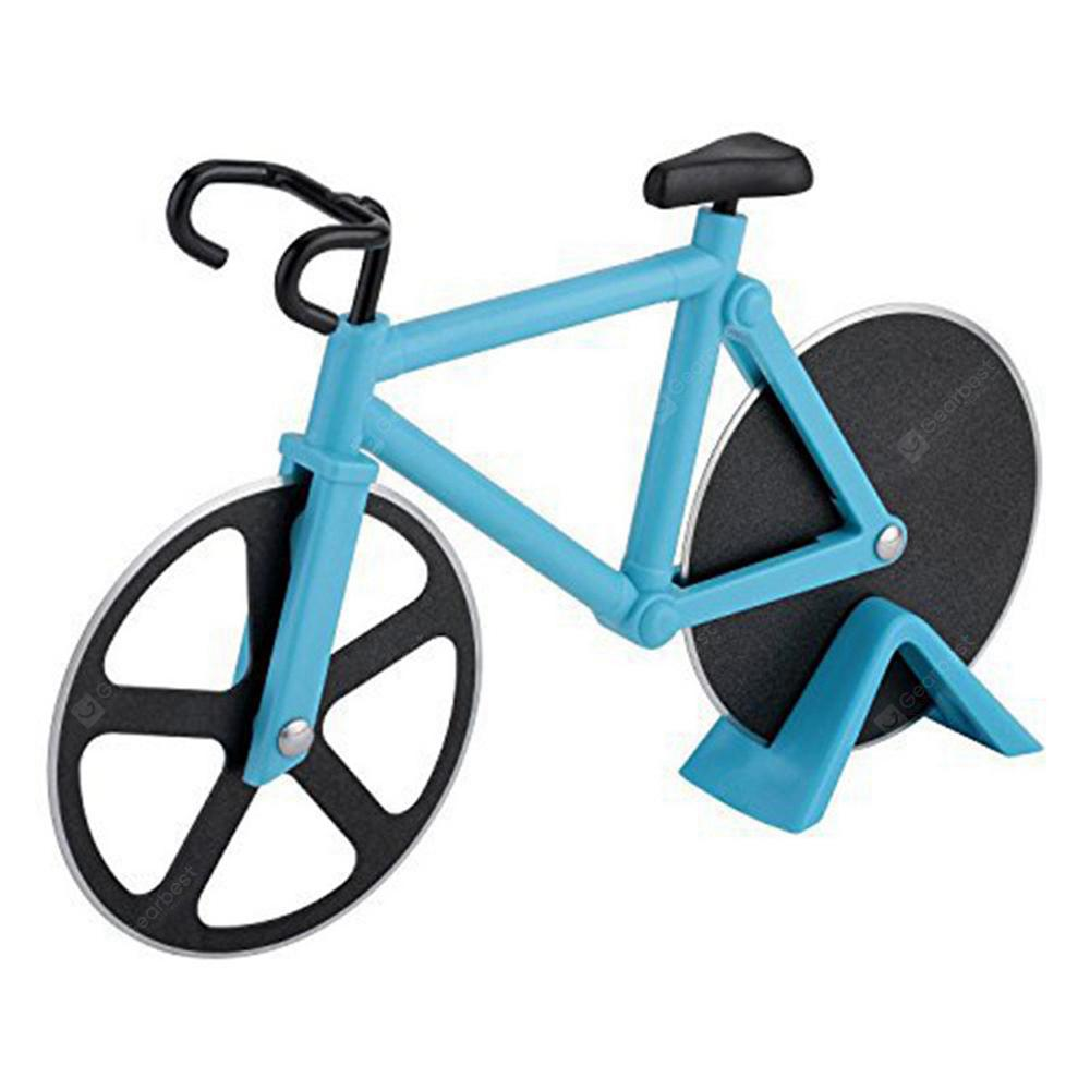 Stainless Steel Bicycle Pizza Cutter Slicer Wheel Kitchen Tool ...