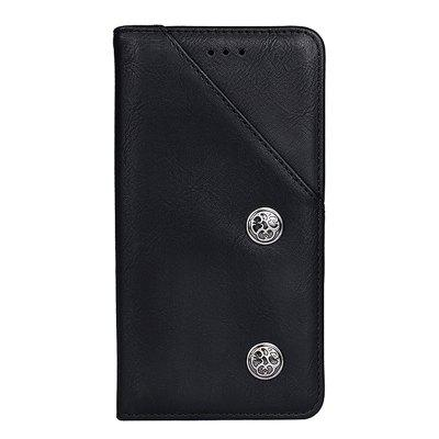 Retro Grain PU Leather Case for Cubot X18 Plus