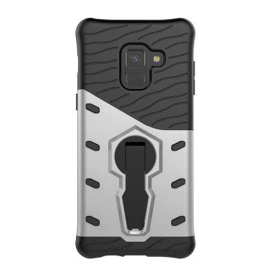 Case for Samsung A8 2018 Shockproof with Stand 360 Rotation Back Cover Contras