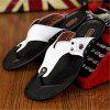 Leather Spring Summer Comfort Flip-Flops Rivet Casual Outdoor Shoes - WHITE