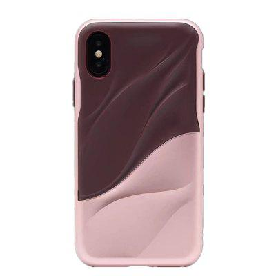 Voor iPhone X-hoes Dual Layer Heavy-Duty 3D-textuur Shock Cover