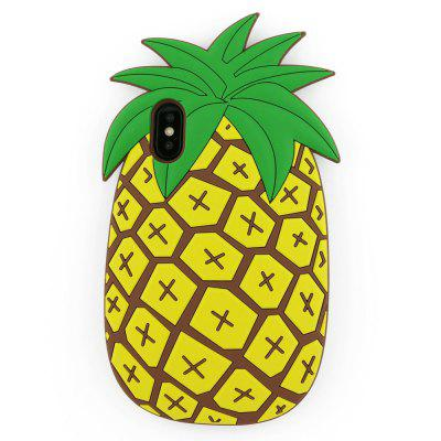Per iPhone X Case Fashion Cute 3D Summer Fruit Pineapple Soft Silicone