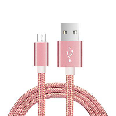 2M Nylon Micro USB Charger Cable for Android Mobile Phone
