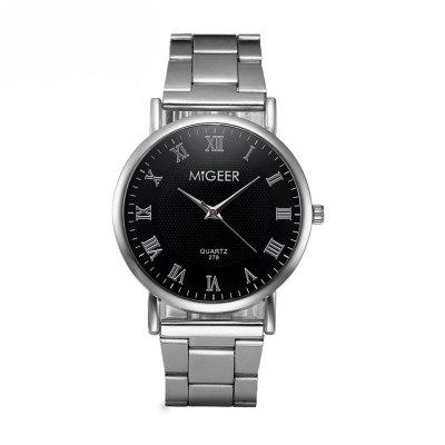 Migeer Fashion Luxury Stainless Steel Quartz Gift Business Army Watch