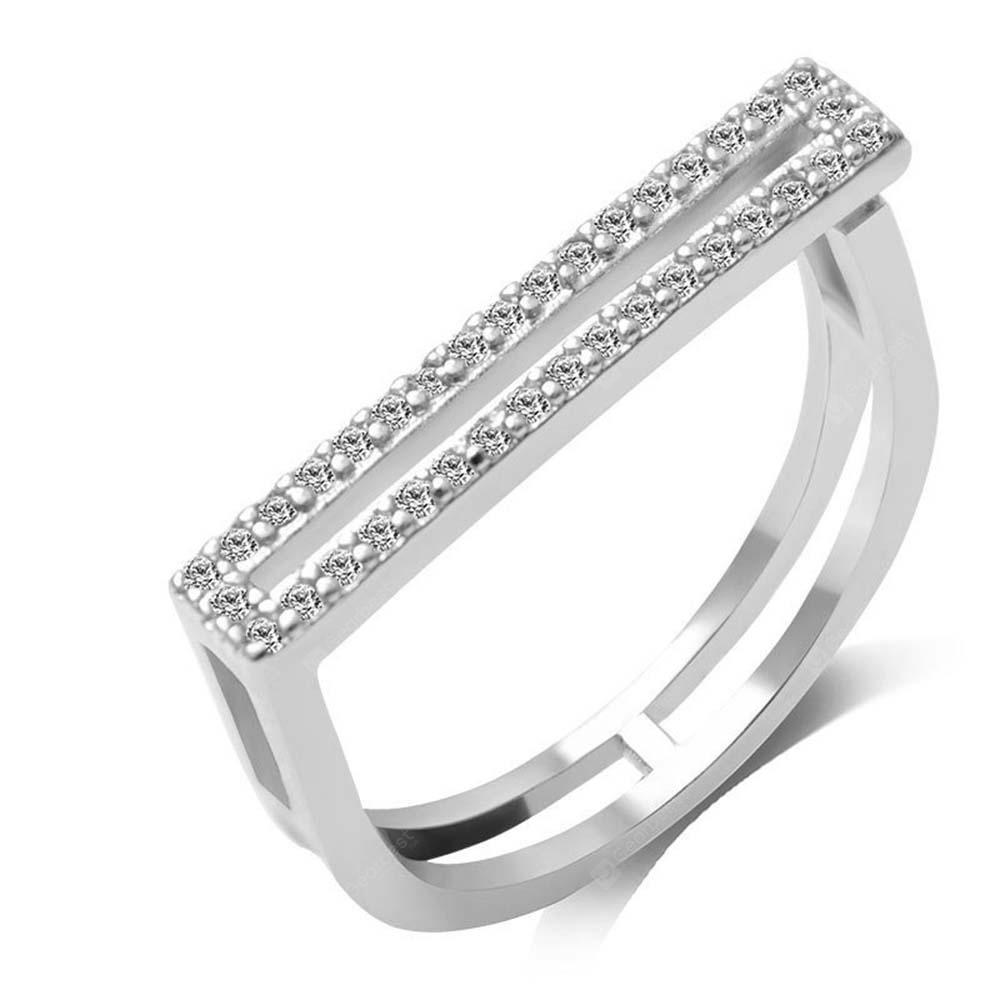 Micro - Encrusted Artificial Diamond Opening Couple Ring