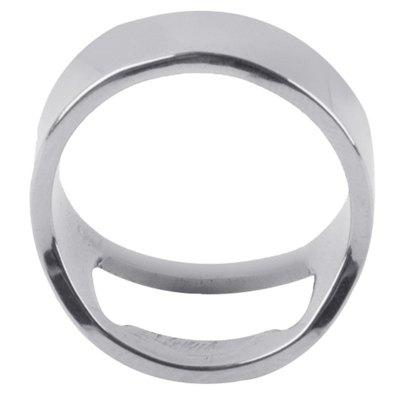 Criativo original de aço inoxidável Versátil Finger Ring-Shape Beer Bottle Opener