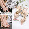 Spring and Summer Flowers Sandals Thick Heels High Heels - APRICOT