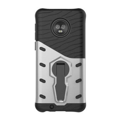 Case for Moto G6 Shockproof with Stand 360 Rotation Back Cover Contras