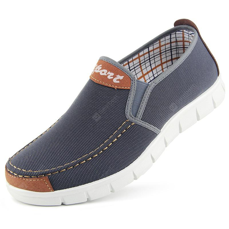 Men Flat Heel Canvas Casual Cloth Shoes