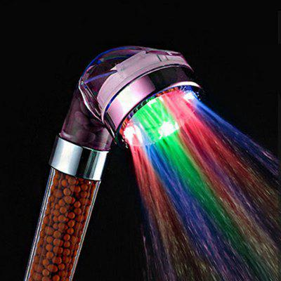 Glow Light LED Anion Health Care Shower Heads With Temperature Sensor