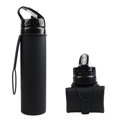 Sports Gym Soft Water Bottle Silicone Folding Drinking Kettle Camping Travel