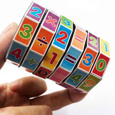 Cylindrical Six-order Cube Math Early Childhood Educational Toys