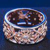 Fashion Sunflower Carved Openwork Ring - CHAMPAGNE