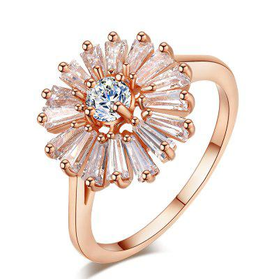 Fashion Chrysanthemum Micro Diamond Ring