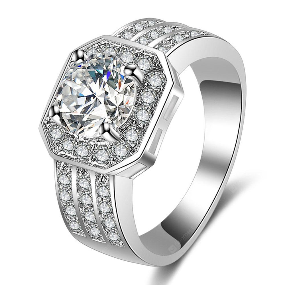 Stylish Minimalist Artificial Diamond Ring