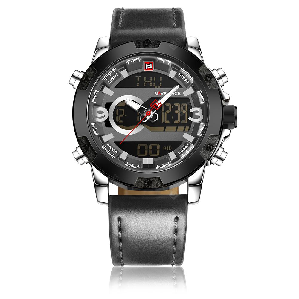 Naviforce9097Men's Dual Display Luminous Multifunctional Waterproof Sports Watch