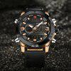 Naviforce9097Men's Dual Display Luminous Multifunctional Waterproof Sports Watch - COPPER