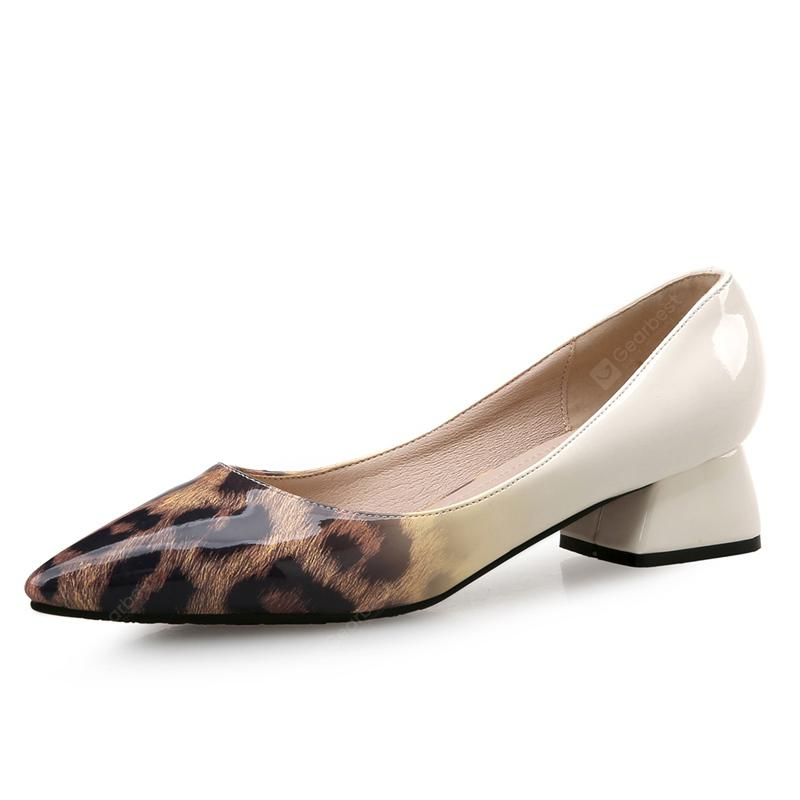 VICONE Women Spring/Autumn Casual Pointed Toe Patent Leather Fashion Pumps