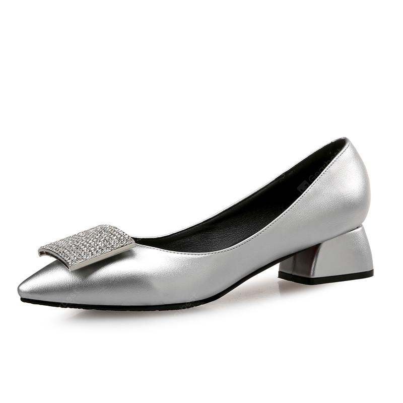 VICONE Women Spring/Autumn Party Crystal Pointed Toe Sweet Fashion Pumps