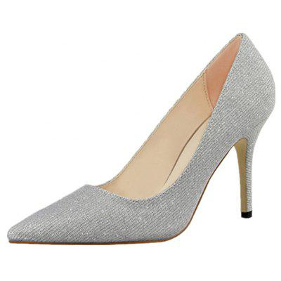High Heels On The net  With a Fine  Shallow Single Shoe