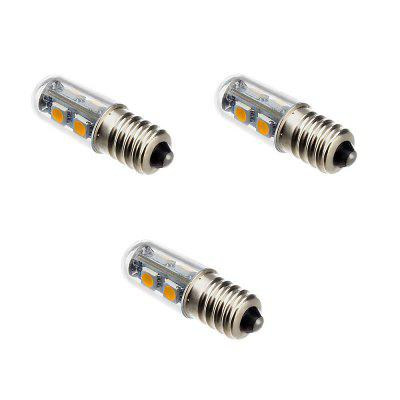 E14 1W AC 220 - 240 Warm White 7LED 5050SMD Refrigerator Light LED Lights 3PCS