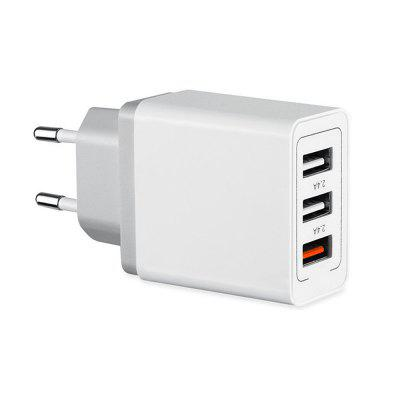 Minismile QC3.0 Quick Charge 3-Port USB Power...