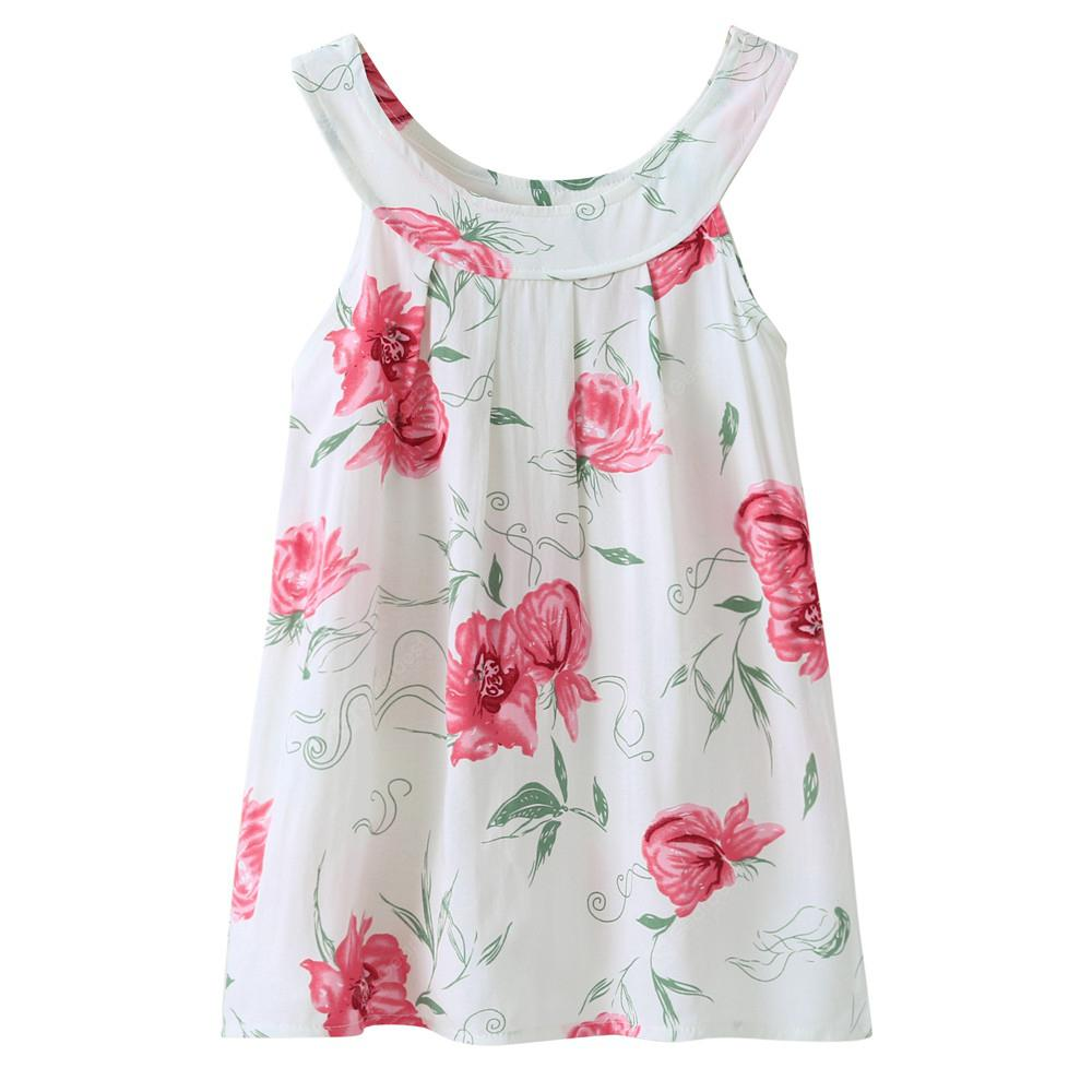 Girls Sundres Dress Sleeveless Printed Princess