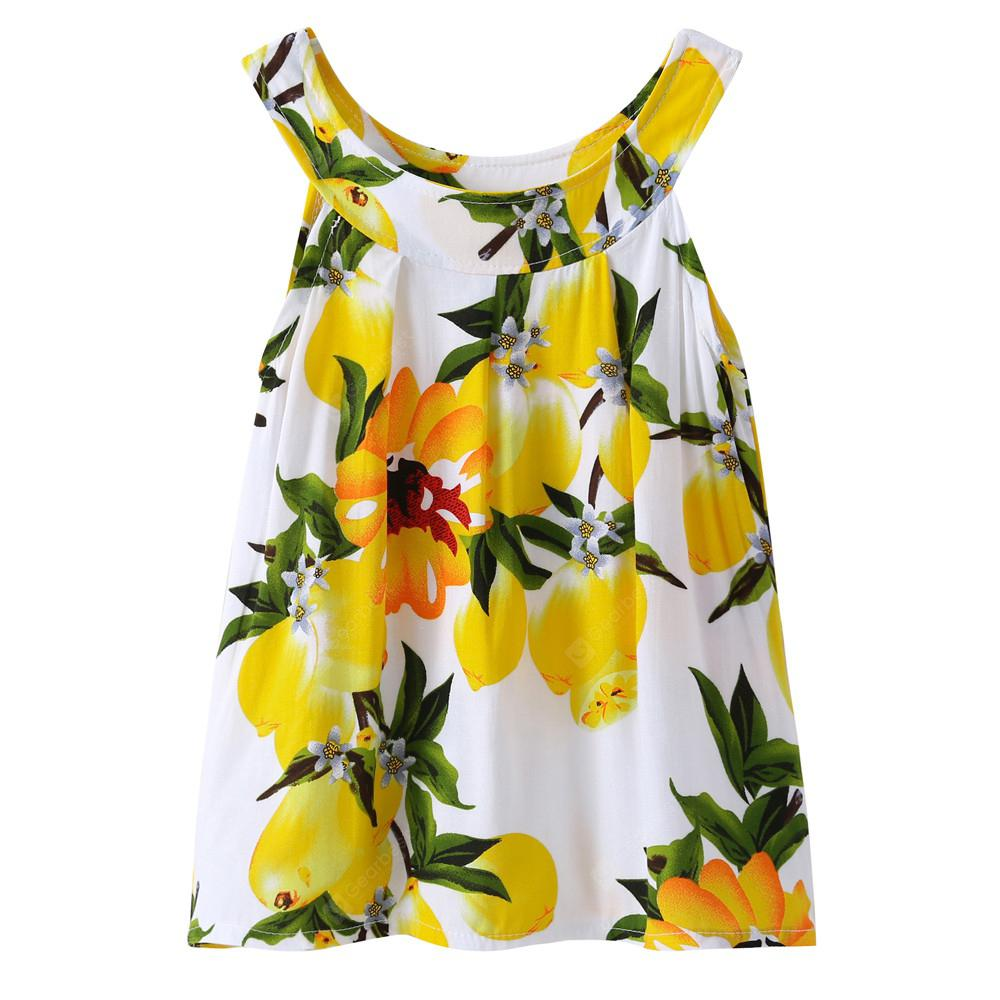 Newest Printed Yellow Dress