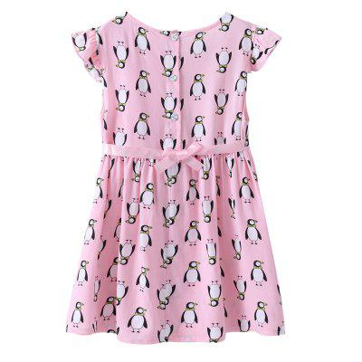 Newest Pink Penguin Button Dress