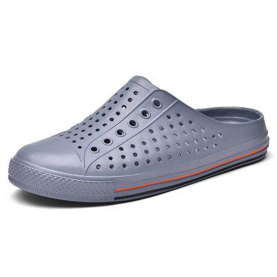 Summer Hollow Breathable Outdoor Slippers Beach Shoes for Men