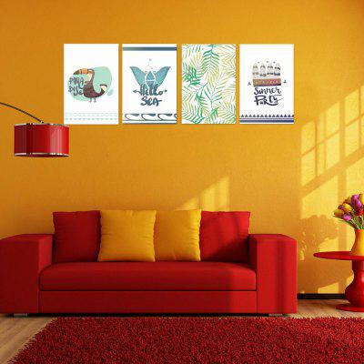 W154 Nordic Style Unframed Art Wall Canvas Prints para Home Decorations 4 piezas