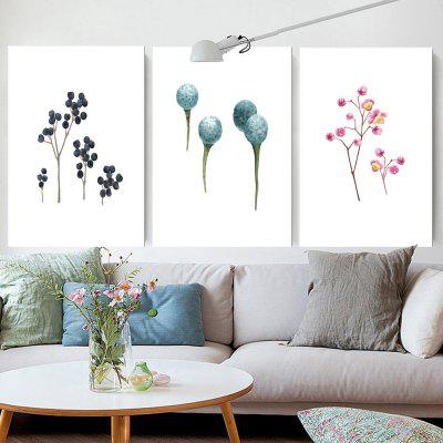 W159 Nordic Style Unframed Art Wall Canvas Prints for Home Decorations 3 PCS
