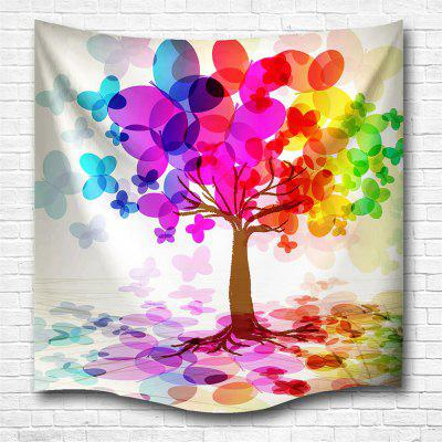 Colorful Tree 3D Printing Home Wall Hanging Tapestry for Decoration