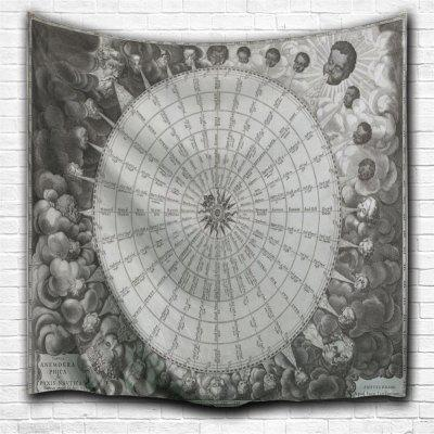 Compass 3D Printing Home Wall Hanging Tapestry for Decoration