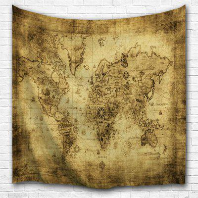 Sheepskin Map 3D Printing Home Wall Hanging Tapestry for Decoration